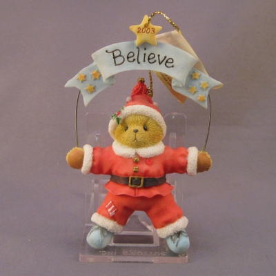 2003 Believe ornament (Santa)