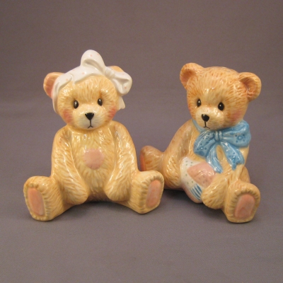 Cherished Teddies Salt & Pepper Shakers - Click Image to Close