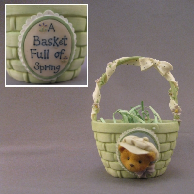 A Basket Full of Spring, green basket