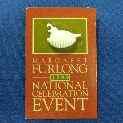 1999 National Celebration Event tack pin - Nestling Quail