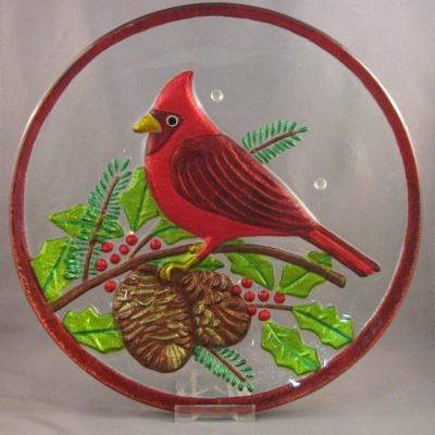 Cardinal and Holly plate - Lori Siebert (Demdaco)