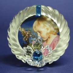 Blue Flower Picture Frame