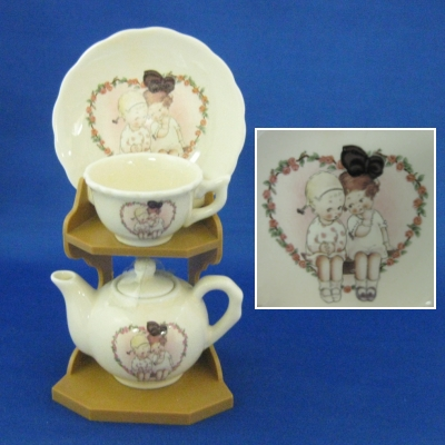 Enesco Mabel Lucie Attwell mini tea set (5 pc)
