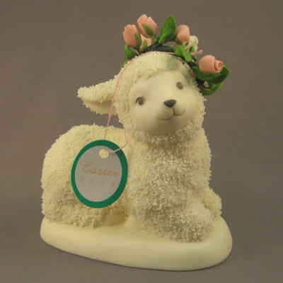2004 Easter Collectible Resting Lamb