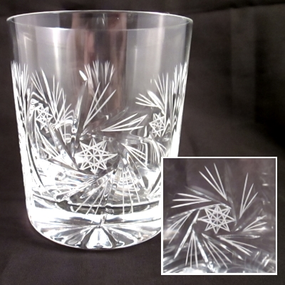 Cut star old fashioned glass