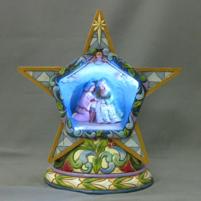 Winter's Miracle lighted Nativity star