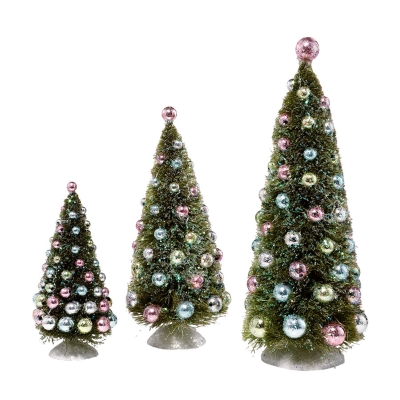 Dream Trees with Ornaments, set of 3
