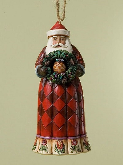 Santa with Pineapple Ornament