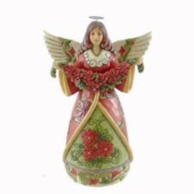 Christmas Beauty Poinsettia Angel