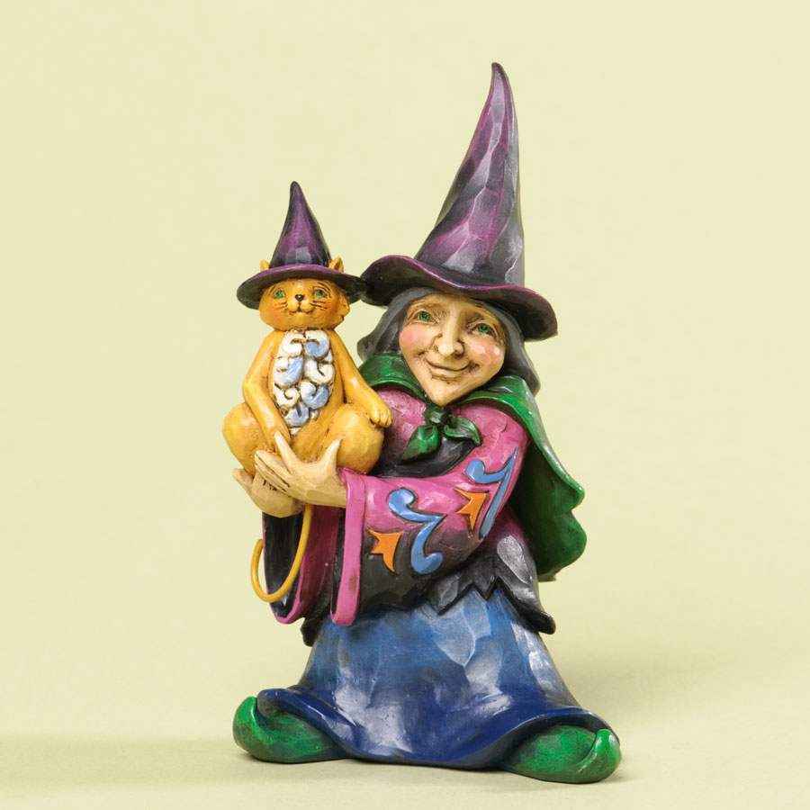 Mini Witch Holding Cat