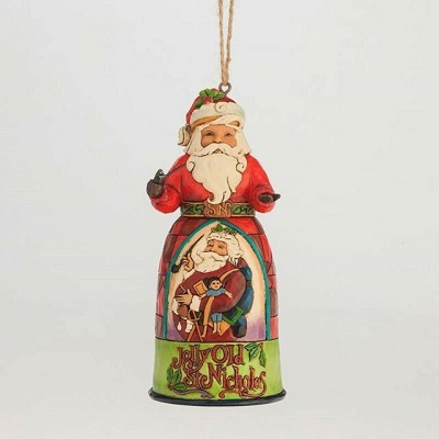Jolly Old St. Nick Santa Ornament