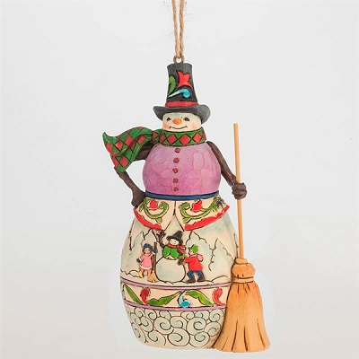 Winter Scvene Snowman Ornament