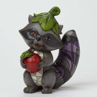 Raccoon with Apple