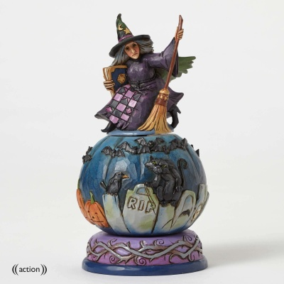 Graveyard Witch with Moveable Scene