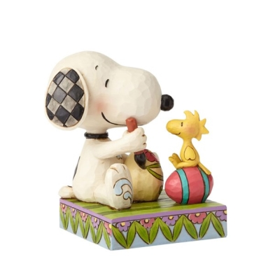 Snoopy and Woodstock with Easter Eggs