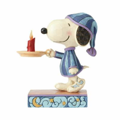 Nighttime Snoopy with Candle