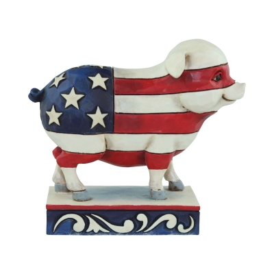 Mini Patriotic Flag Pig