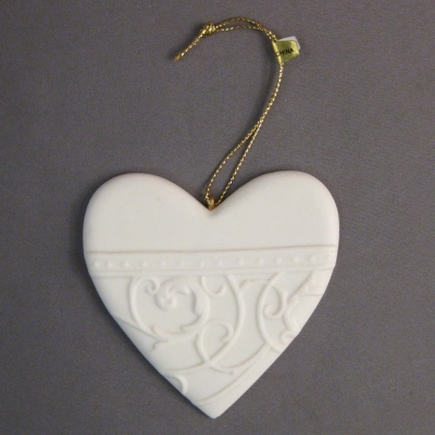 Demdaco Christmas Wishes Love (heart) ornament