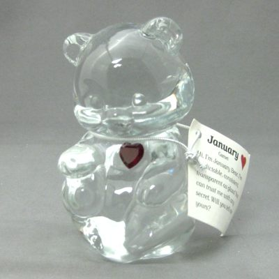 Crystal Birthstone Bear January (garnet)