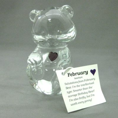 Crystal Birthstone Bear February (amethyst)
