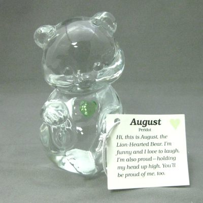 Crystal Birthstone Bear August (peridot)