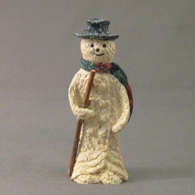 Snowman with Scarf and Stick (mini)