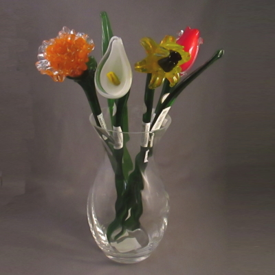 Fifth Avenue Crystal glass bouquet (7 piece set)