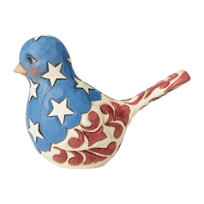 Red, White and Blue Bird