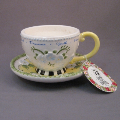 Cup & Saucer tea light - February