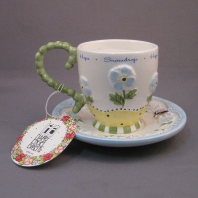 Cup & Saucer tea light - January