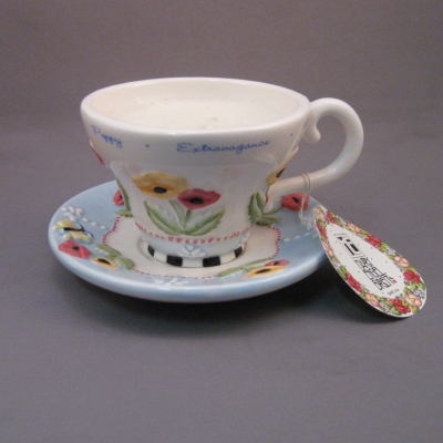 Cup & Saucer tea light - August