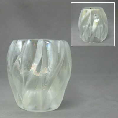 French Opal reversible votive/tea light