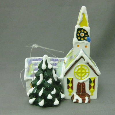 Steepled Church ornament (Original Snow Village)