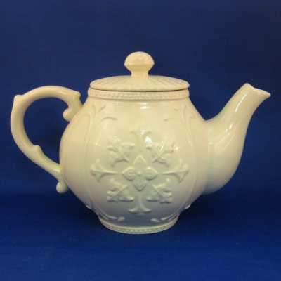 Embossed cream tea pot - A Special Place
