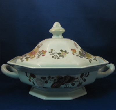 Adams Ming Jade round covered vegetable bowl