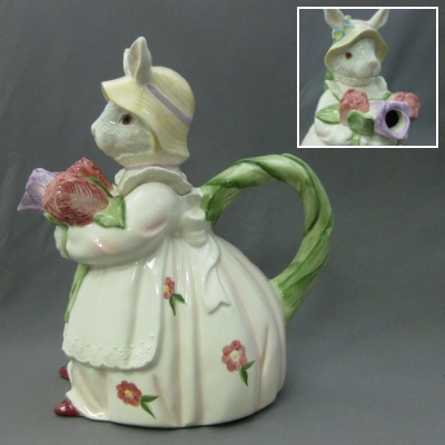 Bunny Lady Teapot - Apple Tree