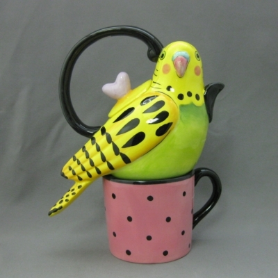 Parakeet Tea-for-One, Yellow - Apple Tree