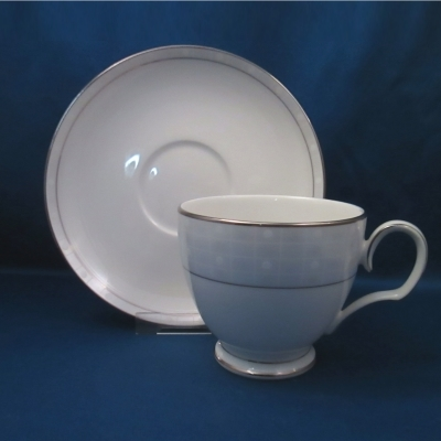 Noritake Aria Platinum cup and saucer