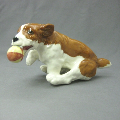 Puppy with brown ball - Beswick