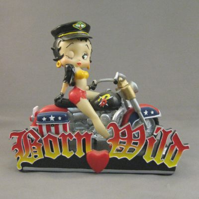 Born Wild figure (Betty Boop w/Red, White, & Blue Motorcycle)