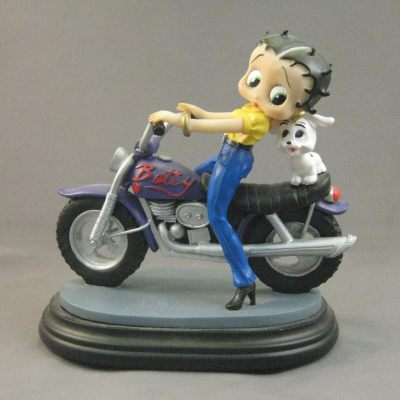 Betty Boop on Purple Motorcycle figure