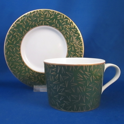 Block Creation Green cup & saucer