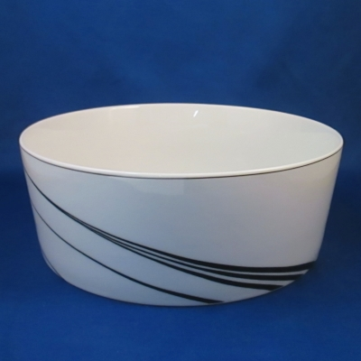 Block White Pearl round vegetable bowl