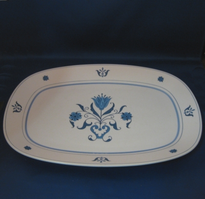 Noritake Blue Haven medium and large oval platters