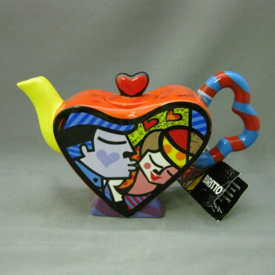Mini Heart Teapot (Kiss - yellow spout) - Britto