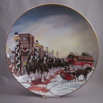"Anheuser Busch 1992 ""The Perfect Christmas"" Budweiser plate"