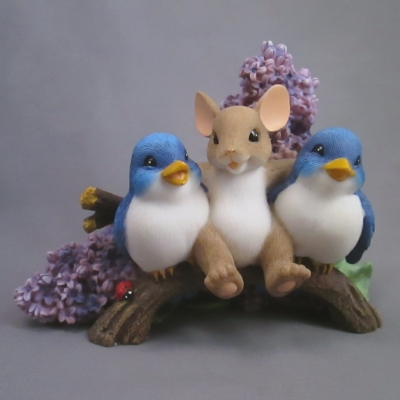 Happiness Is Having Tweet Friends Like You (lilacs & bluebirds)