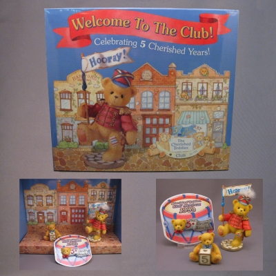 1999 Cherished Teddies Club Membership Kit - Lanny