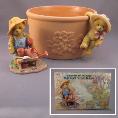 2002 Cherished Teddies Club Membership Kit - Tristan - Click Image to Close