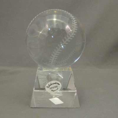 Celebration Crystal Baseball and Stand (2 piece set)